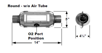 OBDII 1996 TO 2003 FEDERAL EMISSIONS WITH O2 SENSOR PORT AT MIDDLE OF SHELL