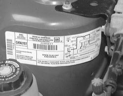 Vehicle Emissions Control Label